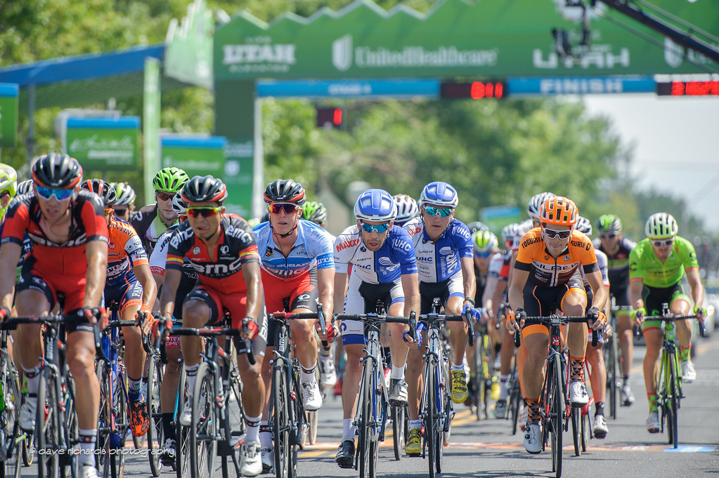 two laps to go around the Utah Olympic Oval duiring Stage 4, 2016 Tour of Utah