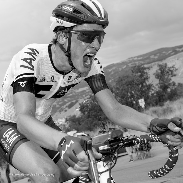 deep in the pain cave on the Bountiful Bench climb,   Stage 5, 2016 Tour of Utah