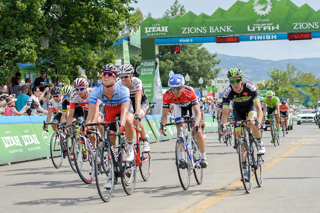 TJ Eisenhart (BMC Racing)  leads the 2nd group to the finish of Stage 5, 2016 Tour of Utah