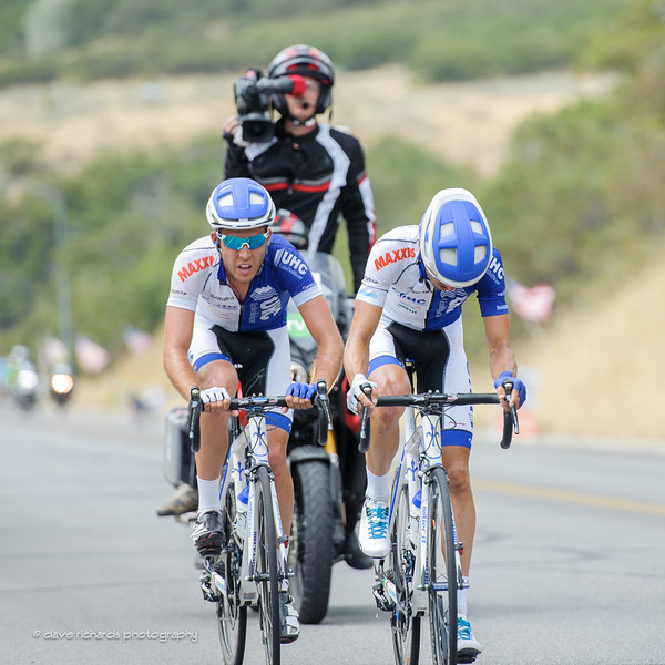 UHC teammates pace each other up the climb to Bountiful Bench, Stage 5, 2016 Tour of Utah