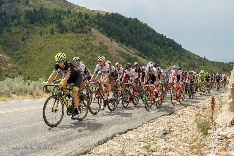 the peloton is feeling the steep grades during Stage 5, 2016 Tour of Utah