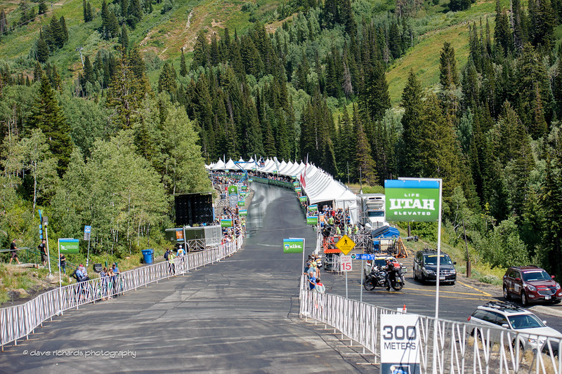 The final run in to the finish line at Snowbird Ski Resort. Stage 6, 2016 Tour of Utah. Photo by Dave Richards, daverphoto.com
