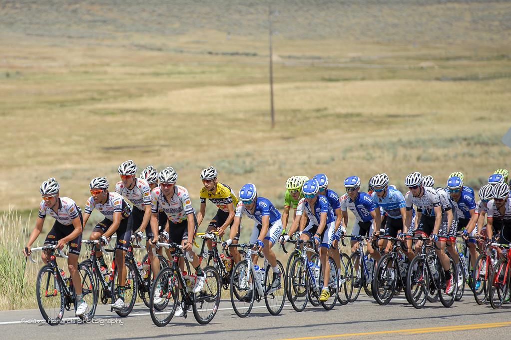 Team Jelly Belly riders form a protective cocoon around  their leader Lachlan Morton blocking the heavy winds during Stage 6, 2016 Tour of Utah. Photo by Dave Richards, daverphoto.com