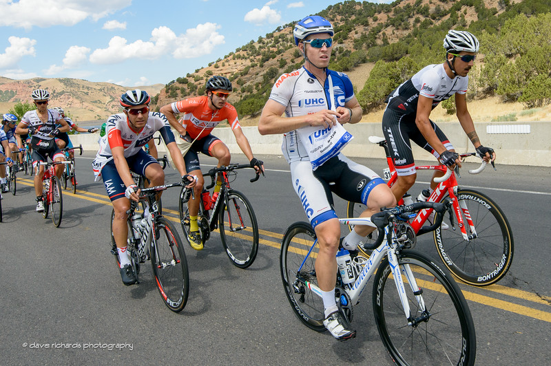 It's lunchtime. Stage 6, 2016 Tour of Utah. Photo by Dave Richards, daverphoto.com