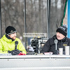 @ScotHerrm and @HtotheOOP keeping warm and calling the action at #MajorTaylorCX Sunday