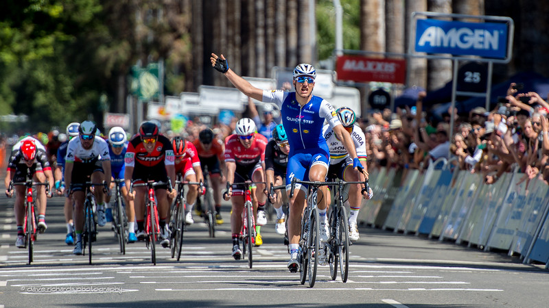 Marcel Kittel (Quick-Step Floors) nails a fast sprint finish to win Men's Stage 1,2017 Amgen Tour of California (Photo by Dave Richards, daverphoto.com)