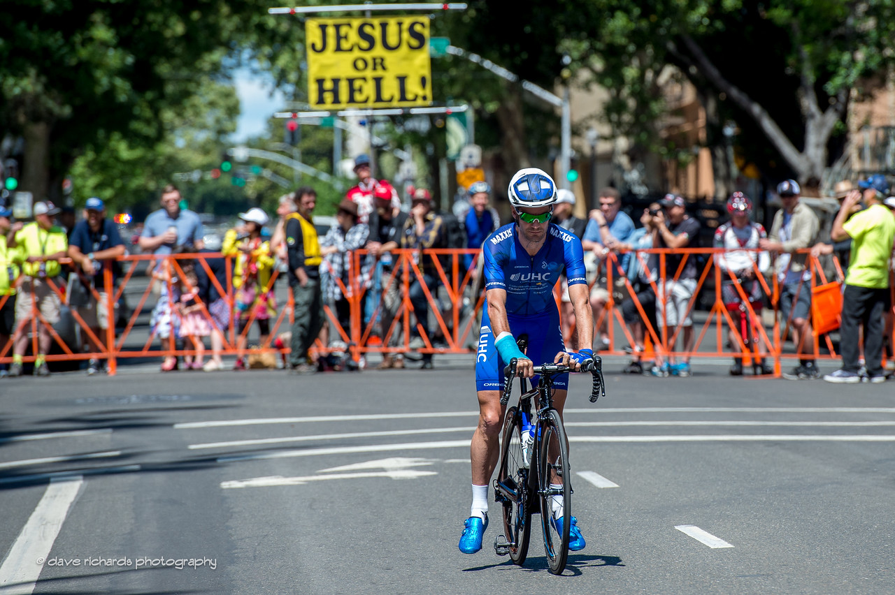 Bicycle racing brings out all sorts of people at the start of Men's Stage 1, 2017 Amgen Tour of California (Photo by Dave Richards, daverphoto.com)