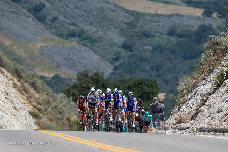 Climbing up out of the valley. Men's Stage 3, 2017 Amgen Tour of California (Photo by Dave Richards, daverphoto.com)