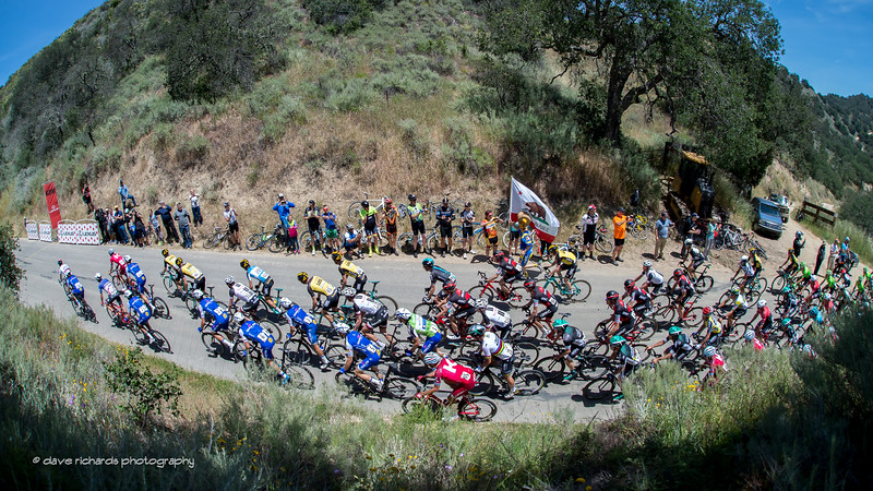 Fisheye view of the KOM, Men's Stage 3, 2017 Amgen Tour of California (Photo by Dave Richards, daverphoto.com)