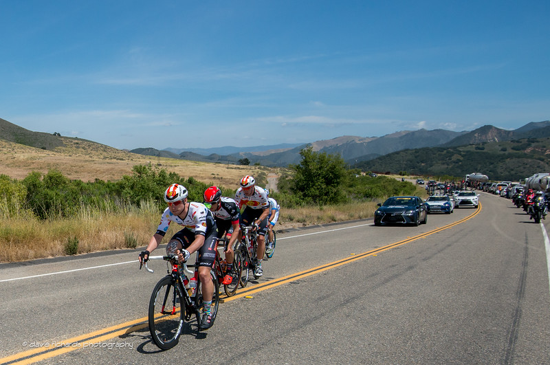 The breakaway drillin' it on Men's Stage 3, 2017 Amgen Tour of California (Photo by Dave Richards, daverphoto.com)