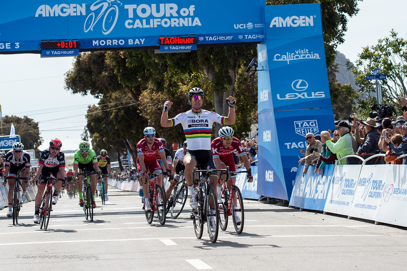 Peter Sagan (Bora-Hansgrohe)  takes Men's Stage 3 by winning a tough uphill sprint. 2017 Amgen Tour of California (Photo by Dave Richards, daverphoto.com)