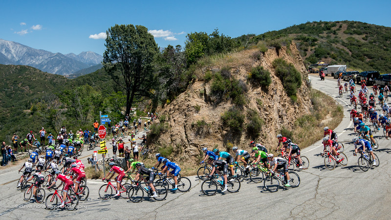 Tight fast,turns were the order of the day along Glendorra Ridge Road  on Men's Stage 5, 2017 Amgen Tour of California (Photo by Dave Richards, daverphoto.com)