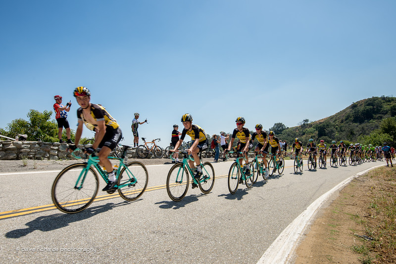 Team Lotto NL-Jumbo drives the paceline up the Glendorra Mountain Road climb. Men's Stage 5, 2017 Amgen Tour of California (Photo by Dave Richards, daverphoto.com)