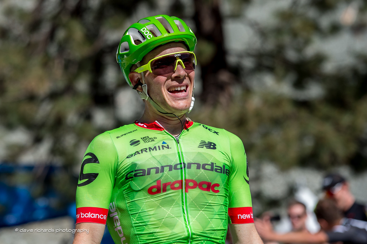 An emotional Andrew Talansky (Cannondale-Drapac Pro Cycling) after winning Men's Stage 5, 2017 Amgen Tour of California (Photo by Dave Richards, daverphoto.com)