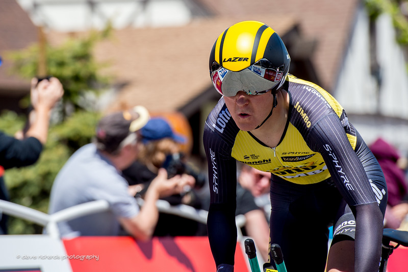 Pushing hard at the beginning straightaway on the Individual Time Trial, Men's Stage 6, 2017 Amgen Tour of California (Photo by Dave Richards, daverphoto.com)