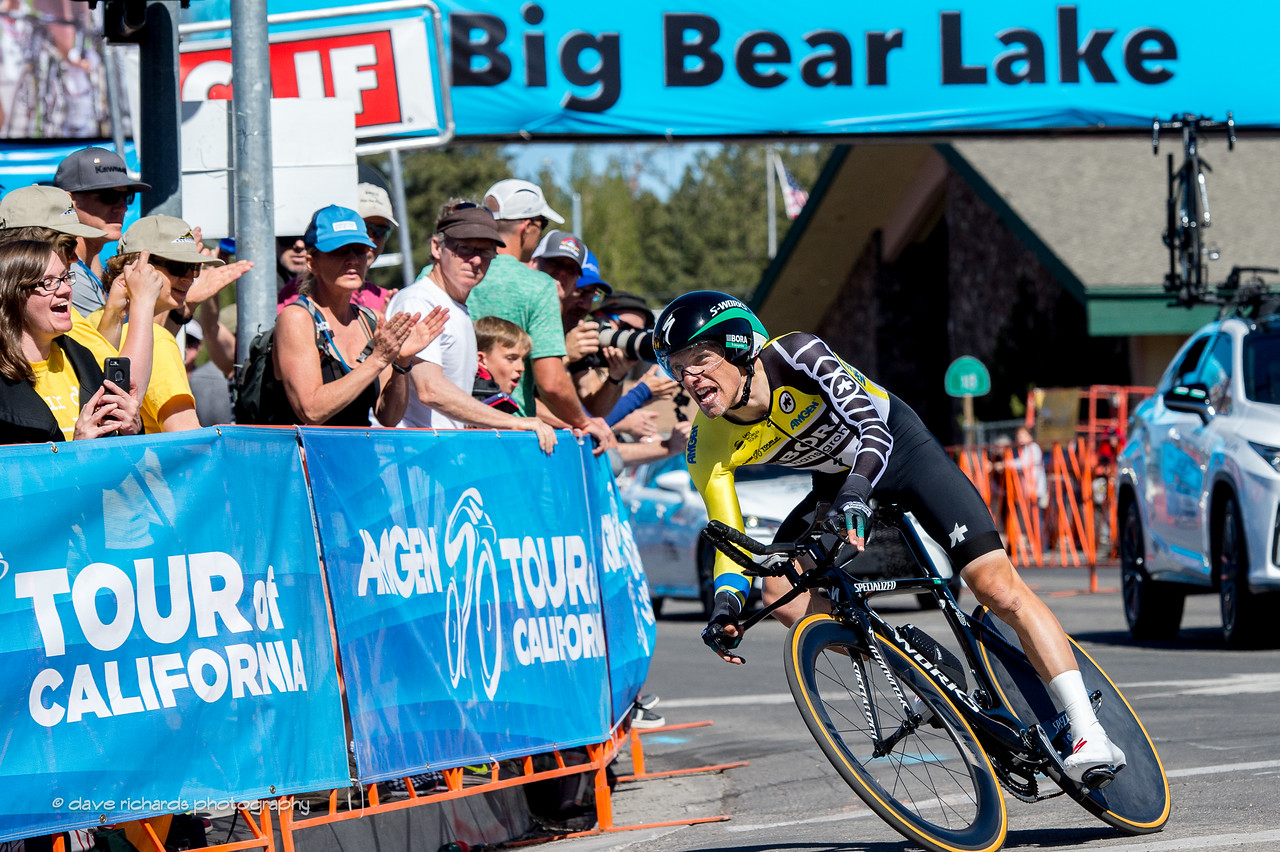 Rafal Majka (Bora-Hansgrohe) nails the final turn to finish the Individual Time Trial, Men's Stage 6, 2017 Amgen Tour of California (Photo by Dave Richards, daverphoto.com)