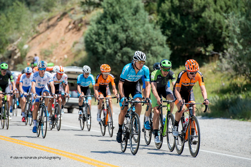 The grupetto bringing up the rear on Stage 1, Logan-BearLake-Logan,  2017 LHM Tour of Utah (Photo by Dave Richards, daverphoto.com)