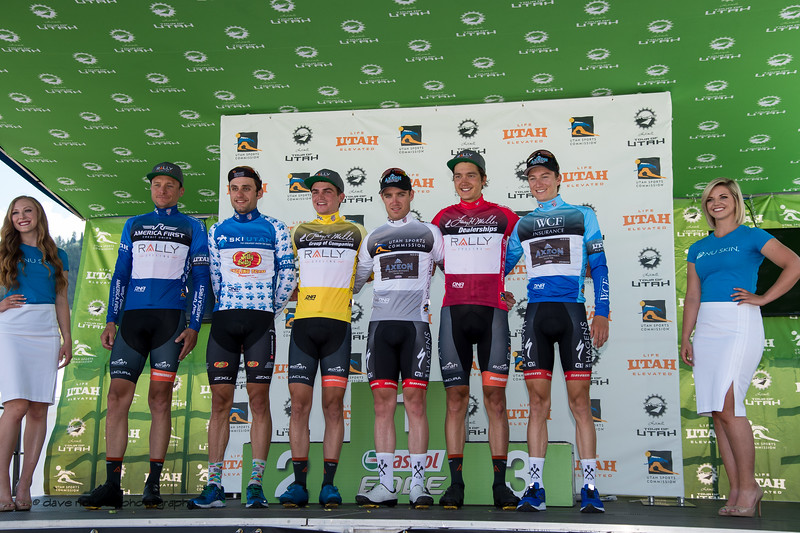 Jersey leaders after Stage 2, BrighamCity-SnowBasin,  2017 LHM Tour of Utah (Photo by Dave Richards, daverphoto.com)
