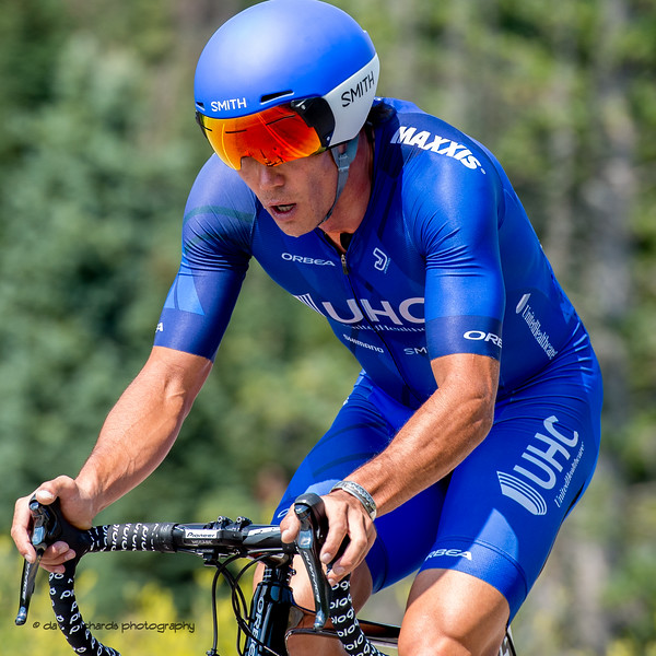 Total focus required for the uphill mountain individual time trial of Stage 3,  Big Cottonwood Canyon,  2017 LHM Tour of Utah (Photo by Dave Richards, daverphoto.com)