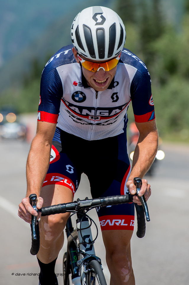Hanger 15 rider suffers greatly on the climb during Stage 3, Individual Time Trial Big Cottonwood Canyon,  2017 LHM Tour of Utah (Photo by Dave Richards, daverphoto.com)