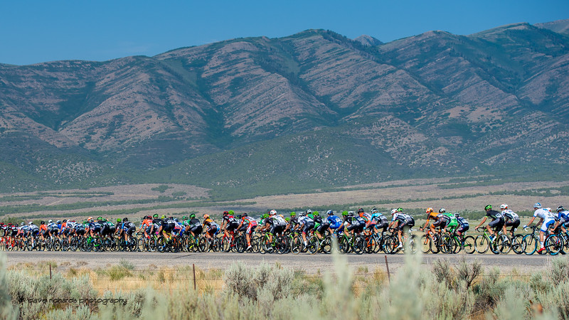 Scenic backdrop along the highway near Cedar Fort during Stage 4, South Jordan City to west desert Pony Express Route and back,  2017 LHM Tour of Utah (Photo by Dave Richards, daverphoto.com)