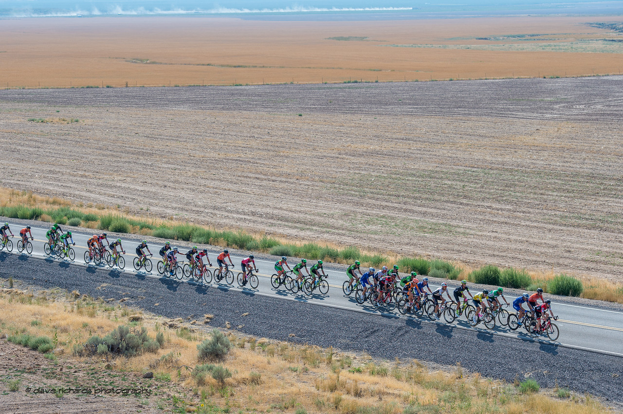 Open fields line the road up to Five Mile Pass on Stage 4, South Jordan City to west desert Pony Express Route and back,  2017 LHM Tour of Utah (Photo by Dave Richards, daverphoto.com)