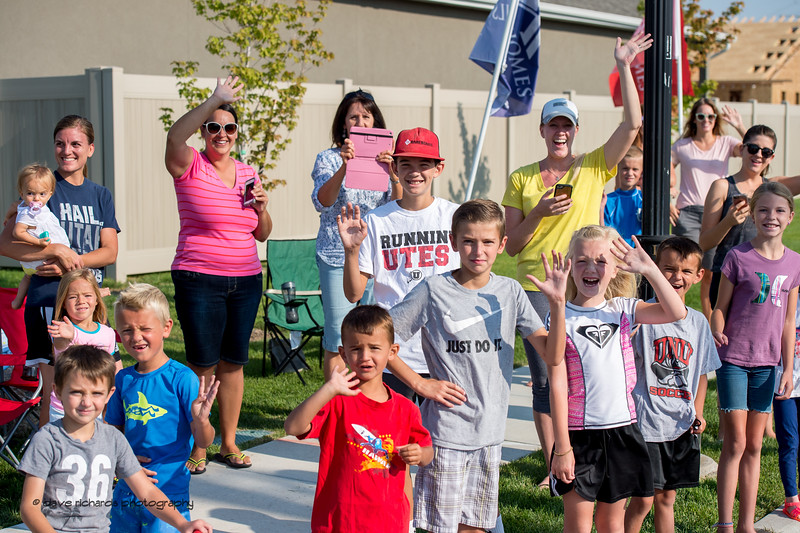 Enthusiastic fans line the streets during Stage 5, Layton to Bountiful,  2017 LHM Tour of Utah (Photo by Dave Richards, daverphoto.com)