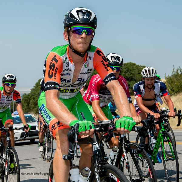 Pain plays no favorites on the steep climb up Bountiful Bench. Stage 5, Layton to Bountiful,  2017 LHM Tour of Utah (Photo by Dave Richards, daverphoto.com)