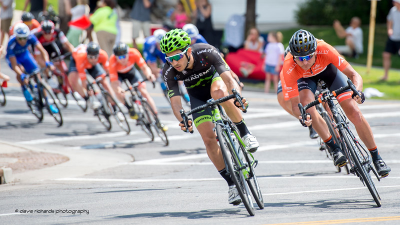 Riders bank hard as they negotiate a high speed turn. Stage 7, Salt Lake City Circuit Race,  2017 LHM Tour of Utah (Photo by Dave Richards, daverphoto.com)