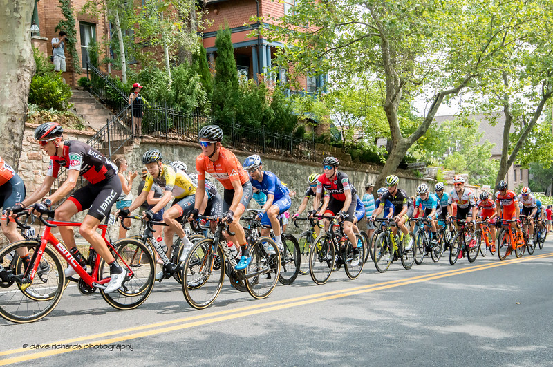 10% plus grades greet the riders on the State Street climb. Stage 7, Salt Lake City Circuit Race,  2017 LHM Tour of Utah (Photo by Dave Richards, daverphoto.com)