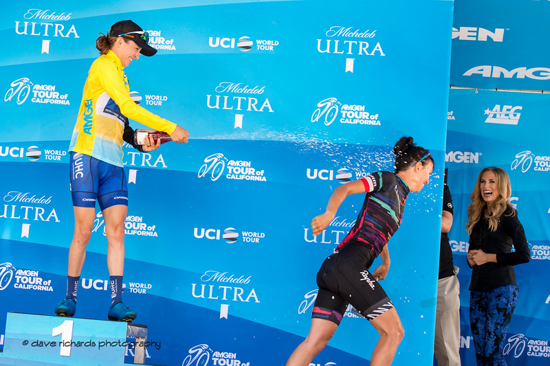 Run before it's too late. Overall Awards, 2018 Amgen Tour of California cycling race (Photo by Dave Richards, daverphoto.com)