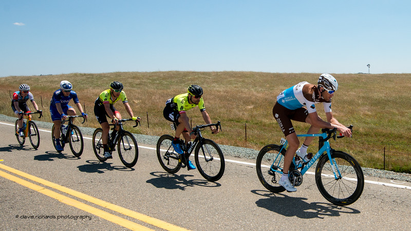 Breakaway train. Men's Stage Five, Stockton to Elk Grove, 2018 Amgen Tour of California cycling race (Photo by Dave Richards, daverphoto.com)