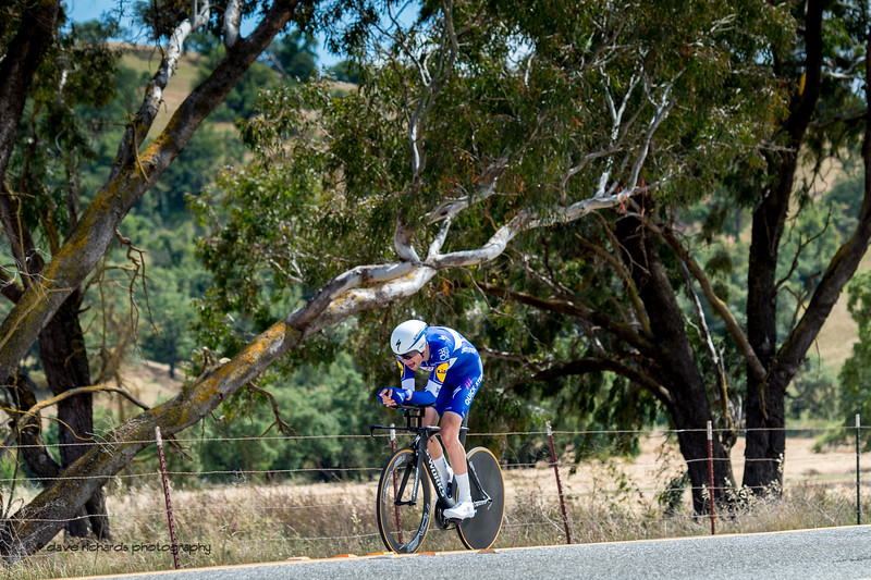 Phantom tree branches reach out to the riders. Men's Stage Four, Individual Time Trial, Morgan Hill, 2018 Amgen Tour of California cycling race (Photo by Dave Richards, daverphoto.com)