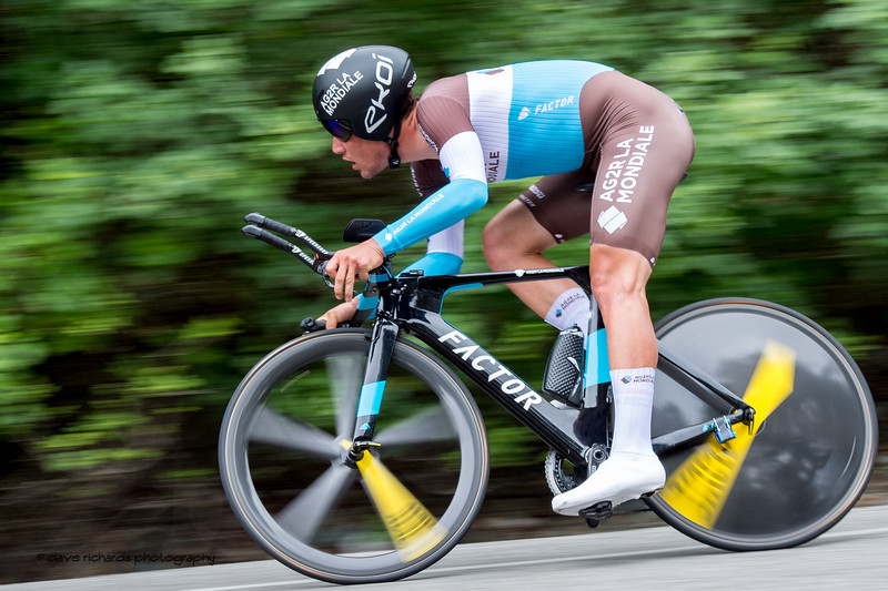 Spinning wheels. Men's Stage Four, Individual Time Trial, Morgan Hill, 2018 Amgen Tour of California cycling race (Photo by Dave Richards, daverphoto.com)