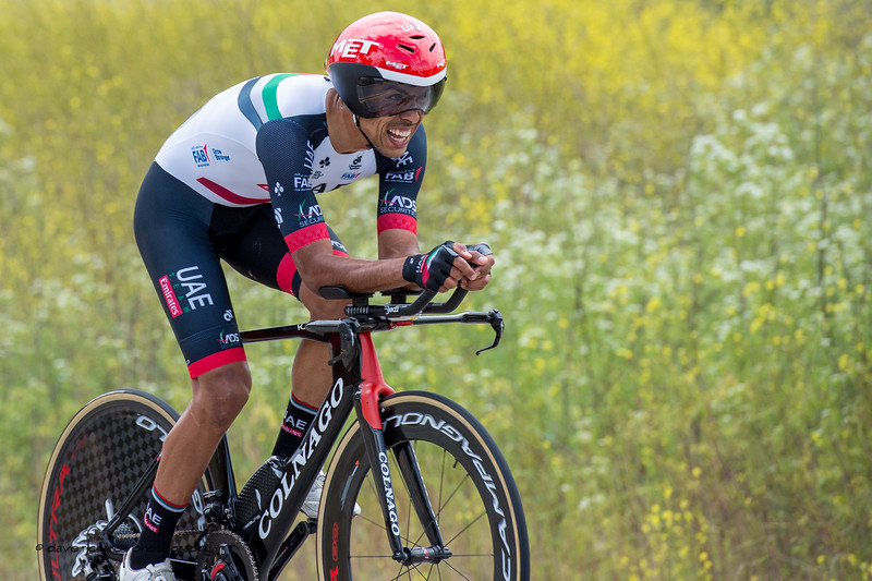 Grit your teeth. Men's Stage Four, Individual Time Trial, Morgan Hill, 2018 Amgen Tour of California cycling race (Photo by Dave Richards, daverphoto.com)