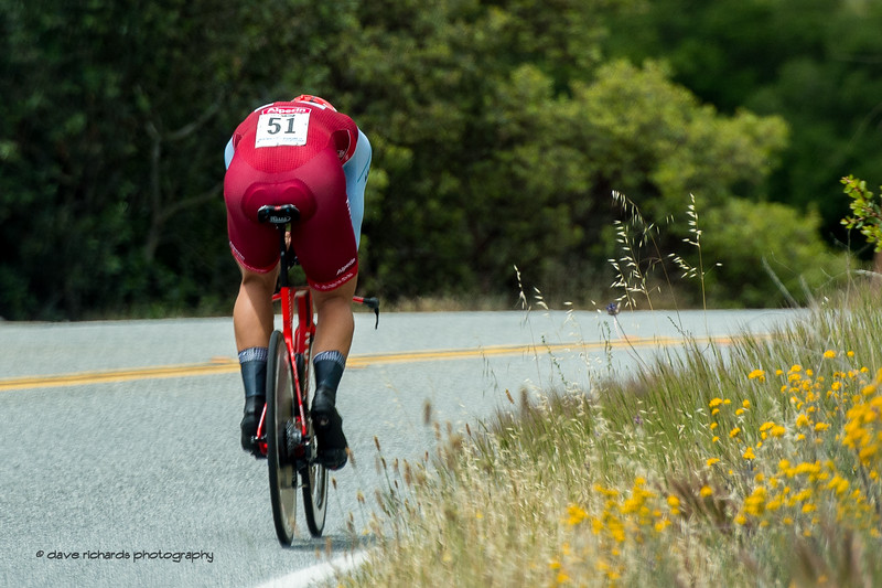 Fast man sprinting ace Marcel Kittel (Katusha) powers along the time trial coursel. Men's Stage Four, Individual Time Trial, Morgan Hill, 2018 Amgen Tour of California cycling race (Photo by Dave Richards, daverphoto.com)