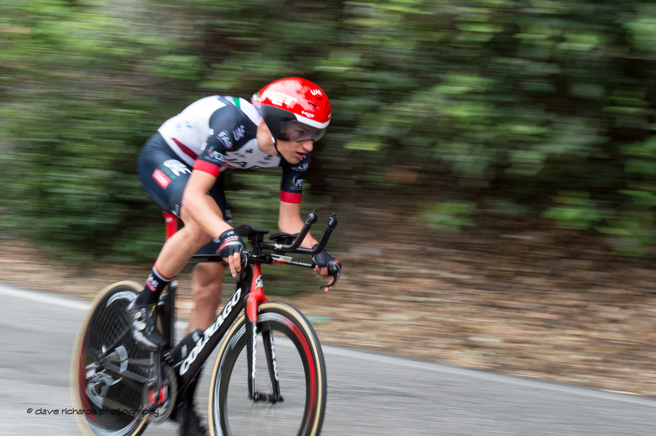 It's all blur when you're moving fast. Men's Stage Four, Individual Time Trial, Morgan Hill, 2018 Amgen Tour of California cycling race (Photo by Dave Richards, daverphoto.com)