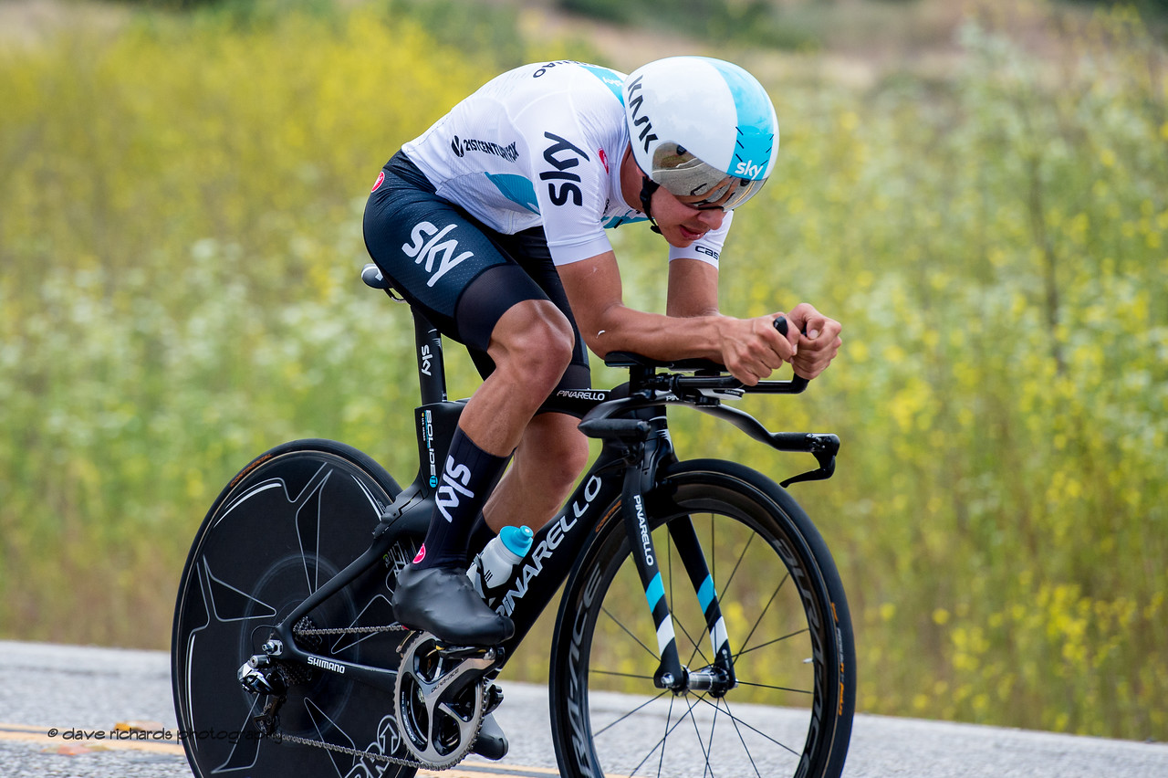 Gettin' on the aero bars. Men's Stage Four, Individual Time Trial, Morgan Hill, 2018 Amgen Tour of California cycling race (Photo by Dave Richards, daverphoto.com)