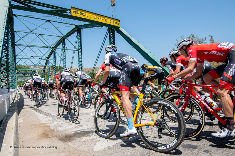 Watch your head! Men's Stage Three from King City to Laguna Seca Race Track, 2018 Amgen Tour of California cycling race (Photo by Dave Richards, daverphoto.com)