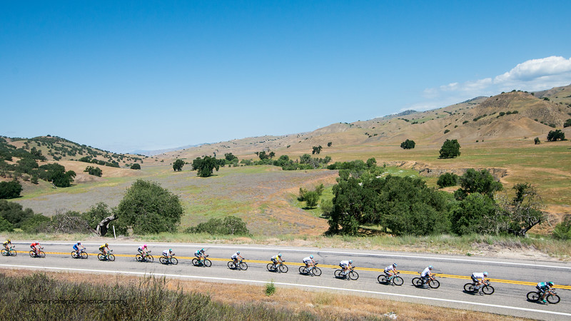 Big sky, golden hills. Men's Stage Three from King City to Laguna Seca Race Track, 2018 Amgen Tour of California cycling race (Photo by Dave Richards, daverphoto.com)