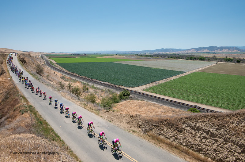 Green fields. Men's Stage Three from King City to Laguna Seca Race Track, 2018 Amgen Tour of California cycling race (Photo by Dave Richards, daverphoto.com)