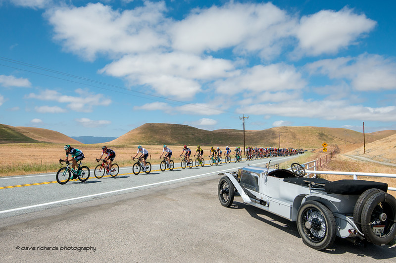 Carbon fiber meets carbon steel. Men's Stage Three from King City to Laguna Seca Race Track, 2018 Amgen Tour of California cycling race (Photo by Dave Richards, daverphoto.com)
