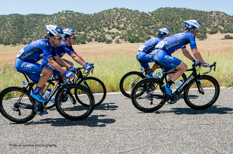 Team United Healthcare. Men's Stage Three from King City to Laguna Seca Race Track, 2018 Amgen Tour of California cycling race (Photo by Dave Richards, daverphoto.com)