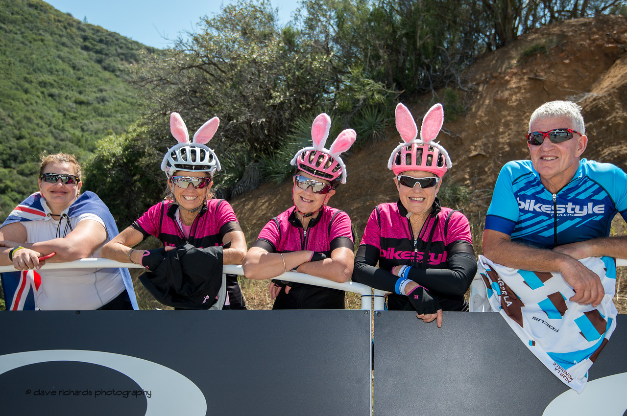 Pink rabbits ??? Men's Stage Two from Ventura to Gibraltar Road, 2018 Amgen Tour of California cycling race (Photo by Dave Richards, daverphoto.com)