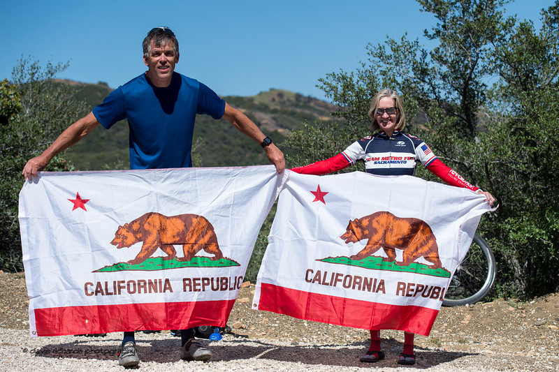 California fans. Men's Stage Two from Ventura to Gibraltar Road, 2018 Amgen Tour of California cycling race (Photo by Dave Richards, daverphoto.com)