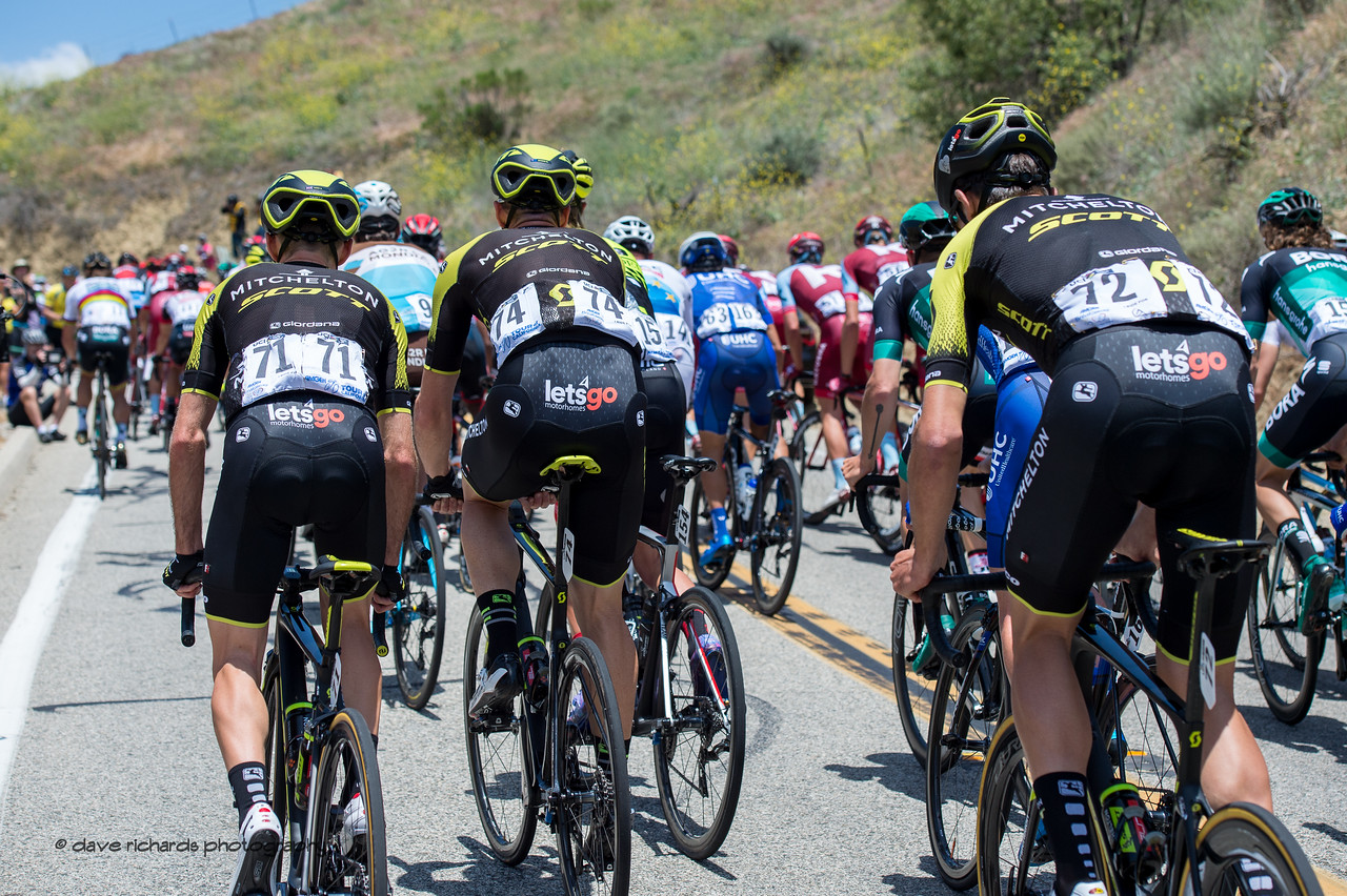Lets Go! Men's Stage Two from Ventura to Gibraltar Road, 2018 Amgen Tour of California cycling race (Photo by Dave Richards, daverphoto.com)