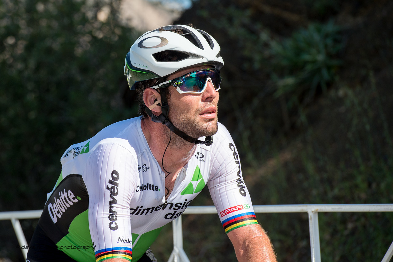 Great sprinters like Mark Cavendish (Dimension Data) aren't built for climbing, but pace themselves up the climb knowing that their  day will come on tomorrow's flat sprint finish. Men's Stage Two from Ventura to Gibraltar Road, 2018 Amgen Tour of California cycling race (Photo by Dave Richards, daverphoto.com)
