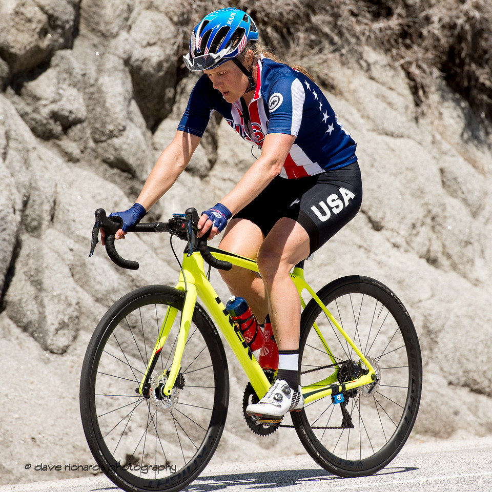 Katherine Compton (USA Cycling National Team). Women's Stage Two, South Lake Tahoe, 2018 Amgen Tour of California cycling race (Photo by Dave Richards, daverphoto.com)