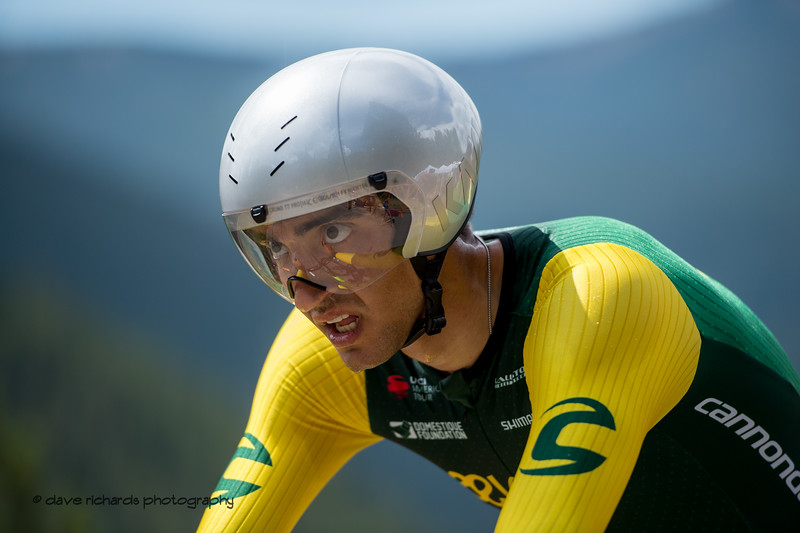 Focused. Men's Stage 2 Time Trial Vail Colorado, 2018 Colorado Classic cycling race (Photo by Dave Richards, daverphoto.com)