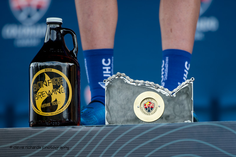 Award swag.Men's Stage 2 Time Trial Vail Colorado, 2018 Colorado Classic cycling race (Photo by Dave Richards, daverphoto.com)